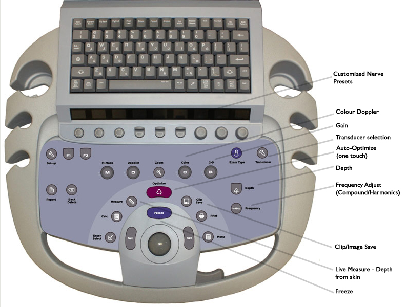 ultrasound machine keyboard